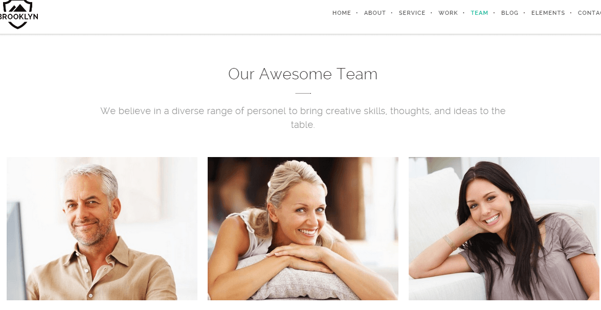 Brooklyn- It provides you amazing hovering effects for your team page