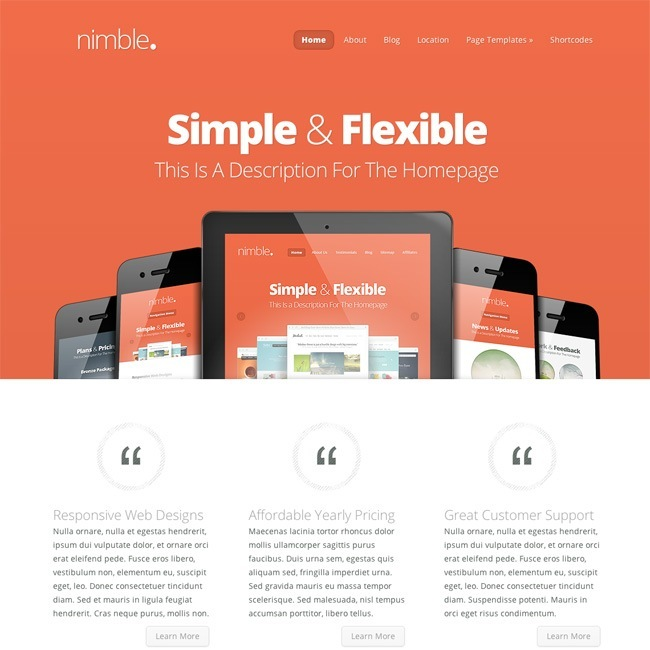 Nimble- A multipurpose WordPress Theme