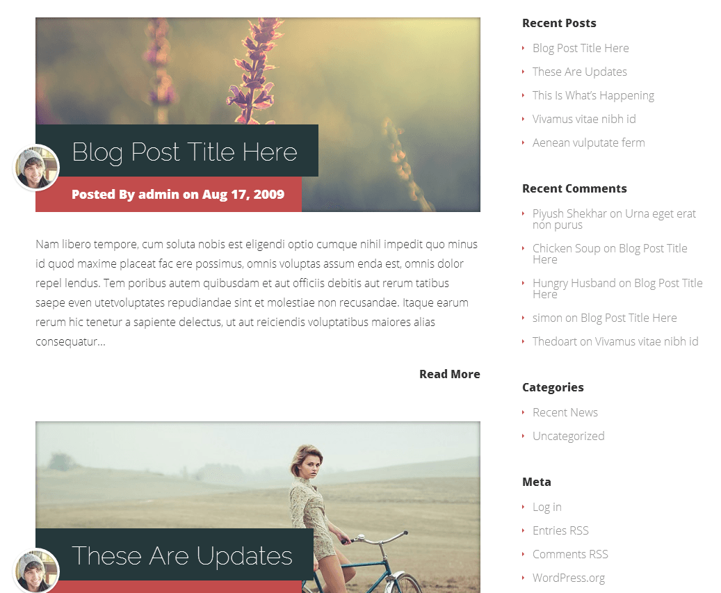 Blog Archive Vertex Theme