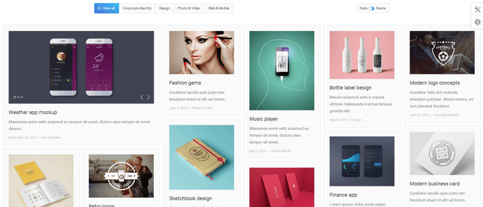 Portfolio Page of The7 Theme