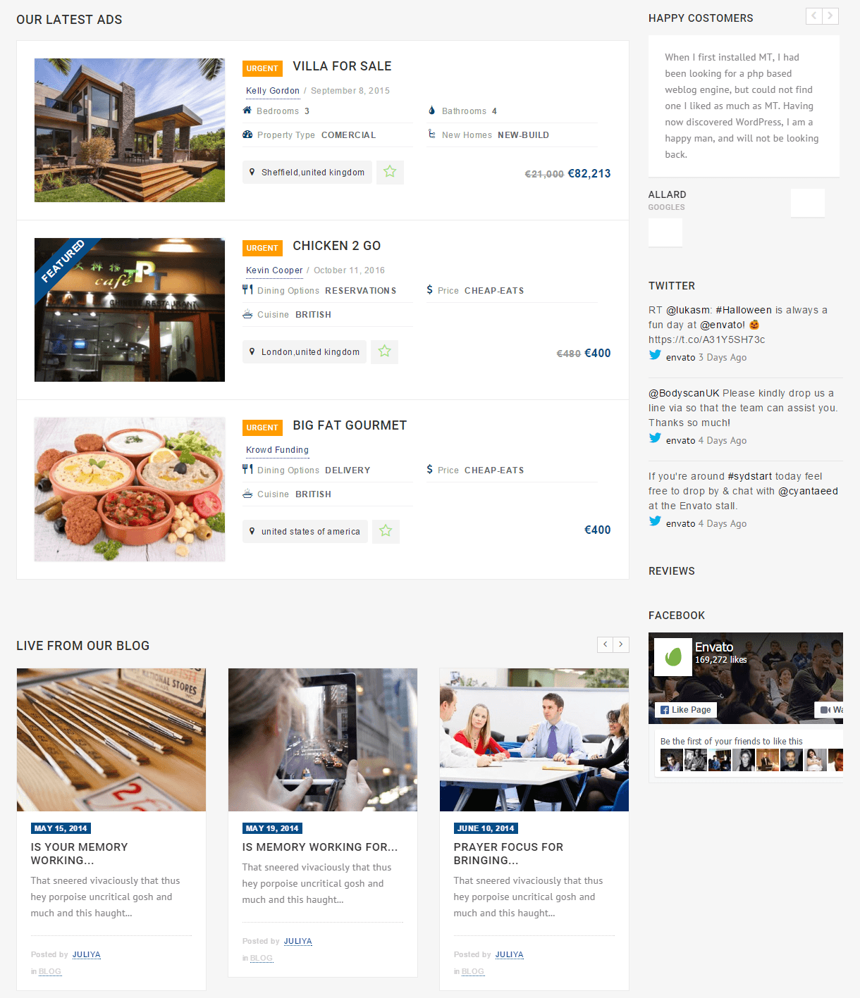 Directory- Listings page