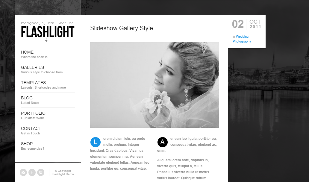 Flashlight- Gallery layout with inline gallery in post