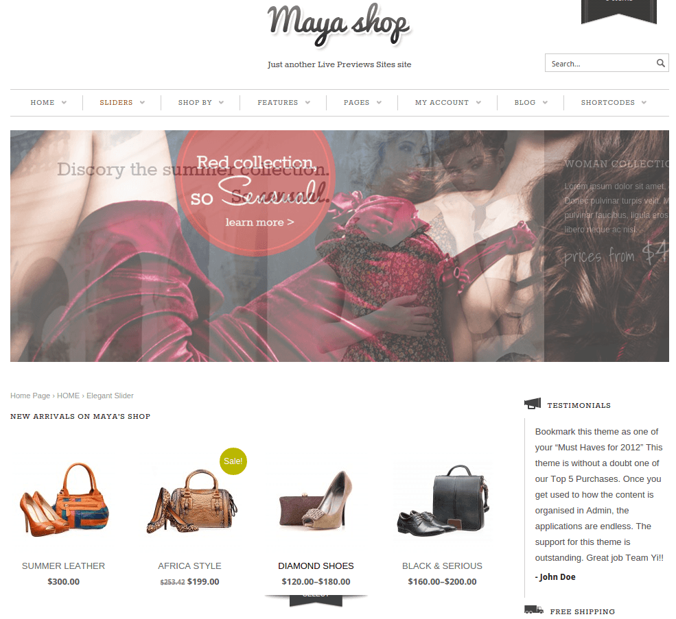 MayaShop-Wordpress-theme