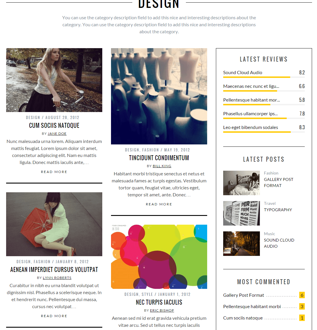 SimpleMag- Blog layout with some text and medium image