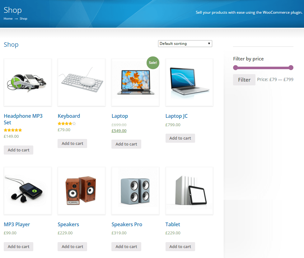 Sterling- Shop page of this theme