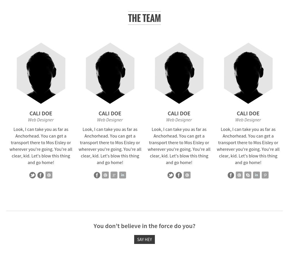 Team Page on SCRN