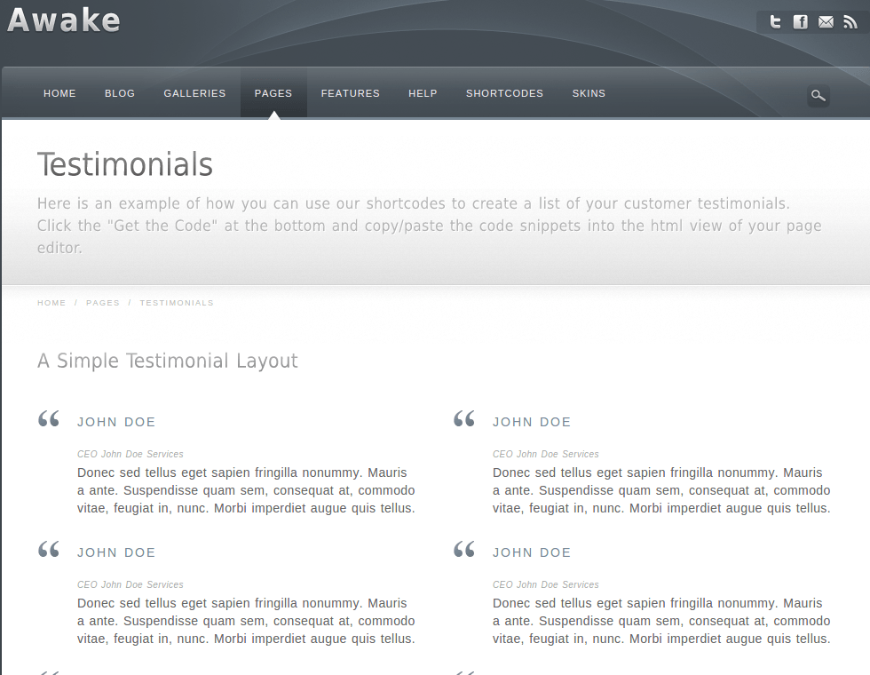 Testimonial-WordPress-theme