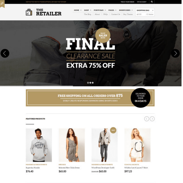 The Retailer - Best Ecommerce WordPress theme