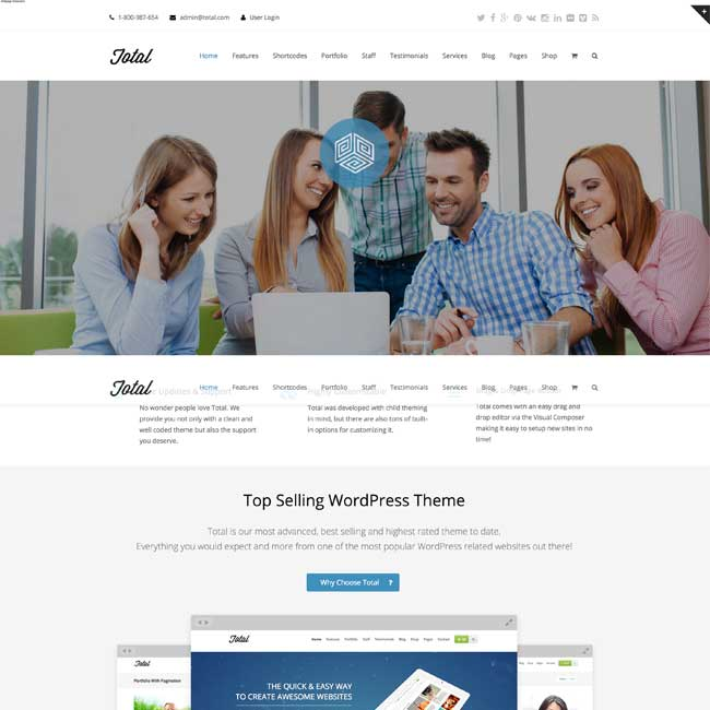 Total- A multipurpose WordPress Theme