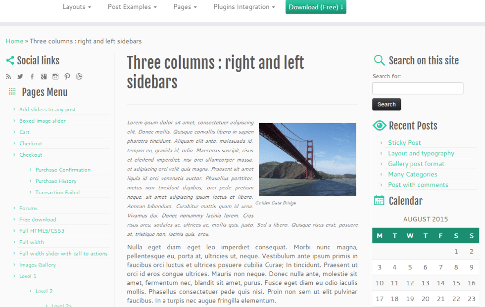 3 Column Layout in Customizr