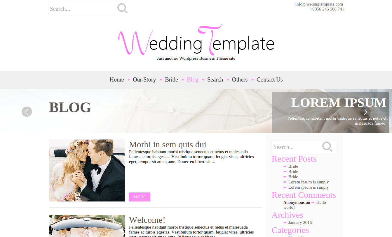 Blog Page of Wedding Style