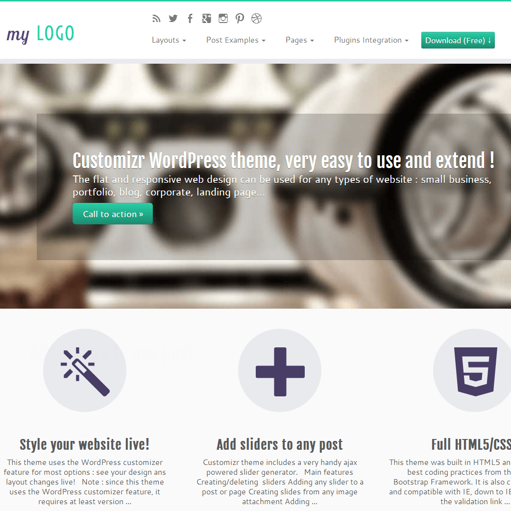 Customizr WordPress Free Theme
