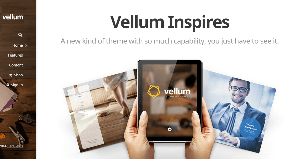 Vellum-home gives Infinite Design Possibilities in a Single Theme