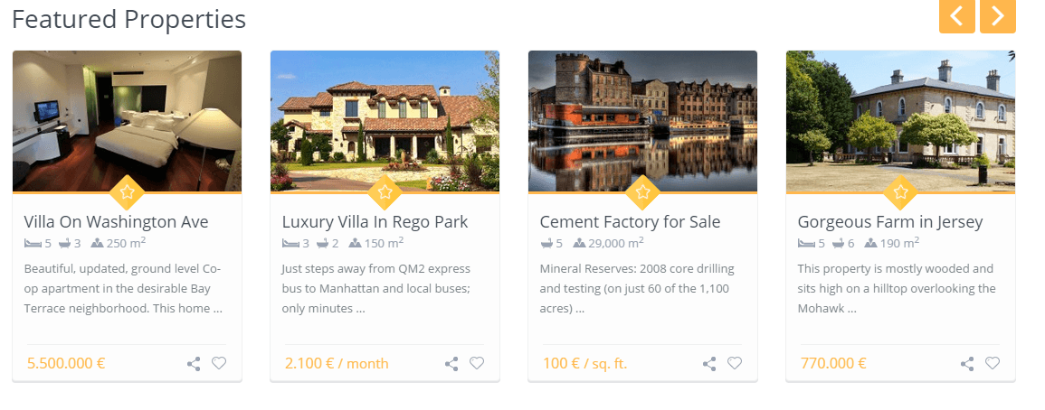WP Residence- featured property slider plugin