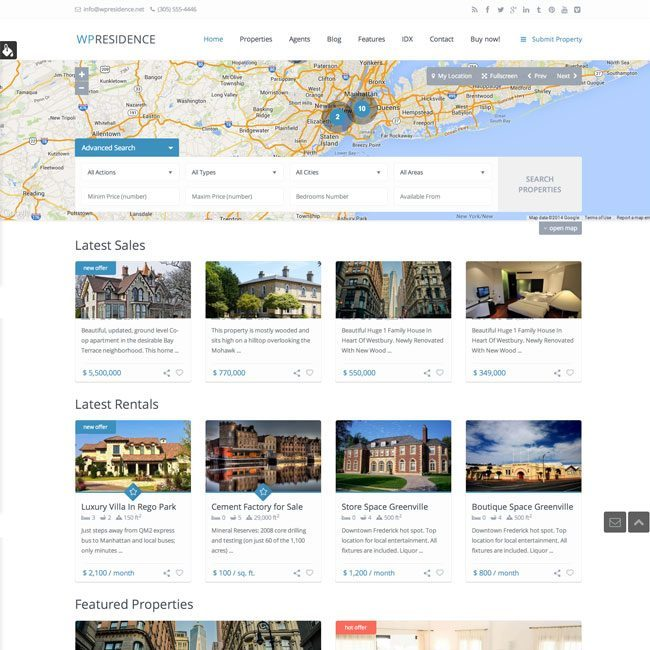 WP Residence- Real Estate WordPress Theme