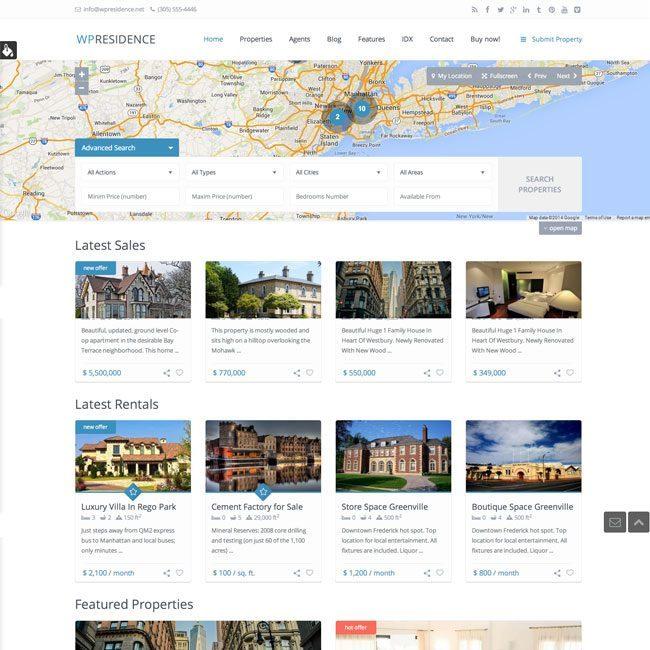 WP Residence- Real Estate WordPress Theme