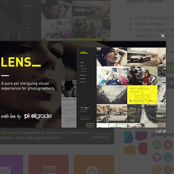 Lens_An Enjoyable Photography WordPress Theme