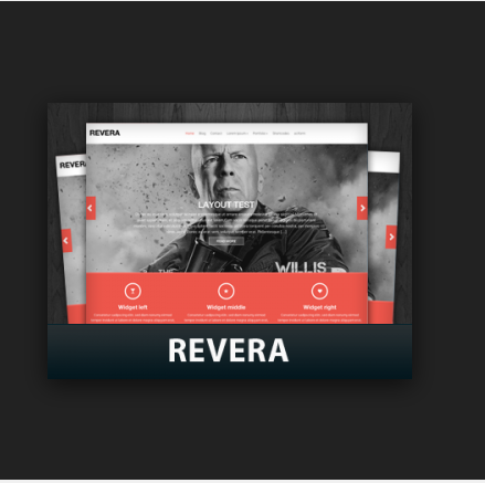 Revera - free premium wordpress theme based on the Bootstrap 3 framework.