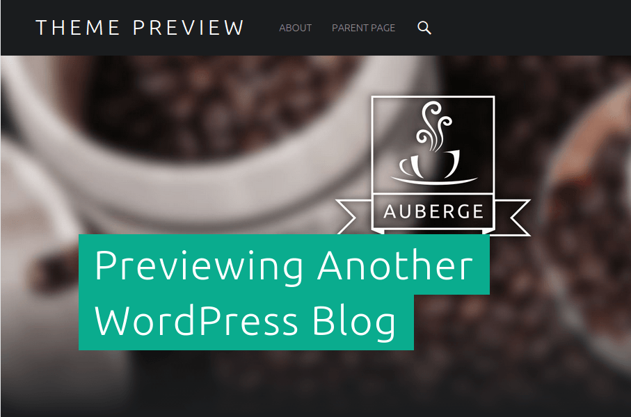 Auberge Theme Preview Page