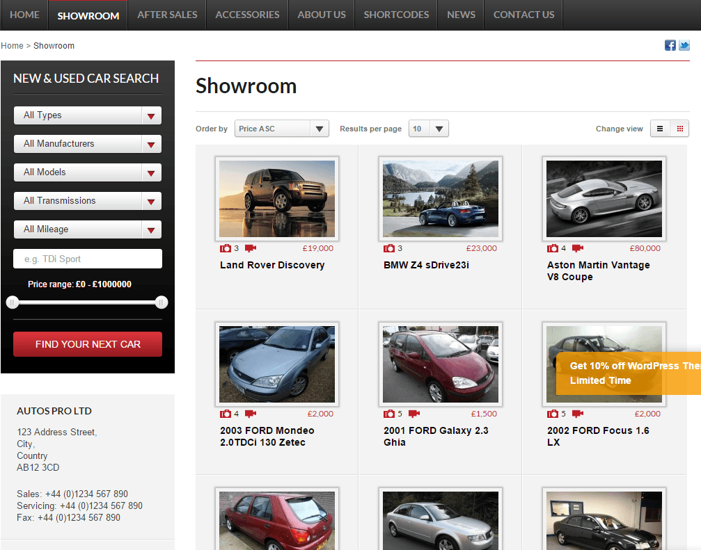 Autos Pro- Your online showroom with this theme