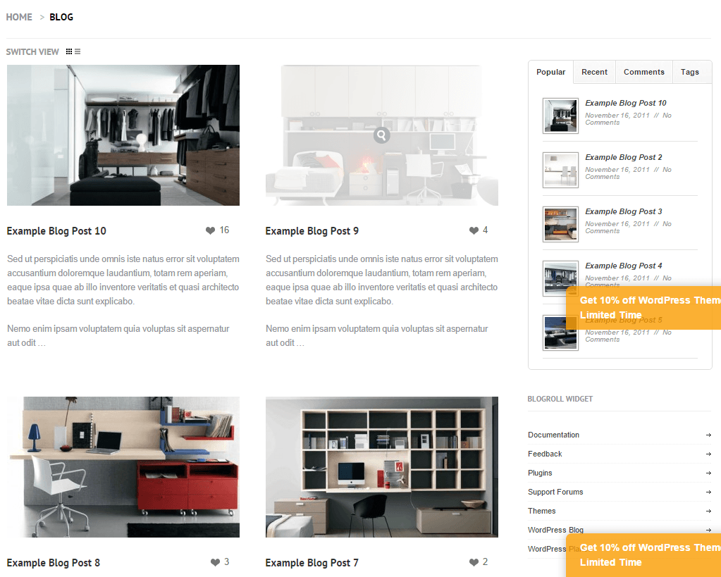 Bespoke Pro- Blog page of this theme