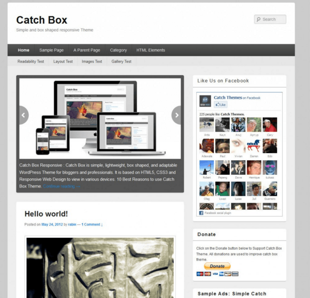 Catch Box WP Theme Review and Details - PurposeThemes