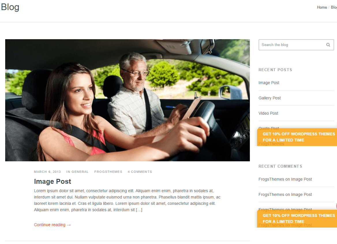 Driving School Pro- Blog page