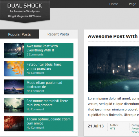 DualShock WordPress Theme