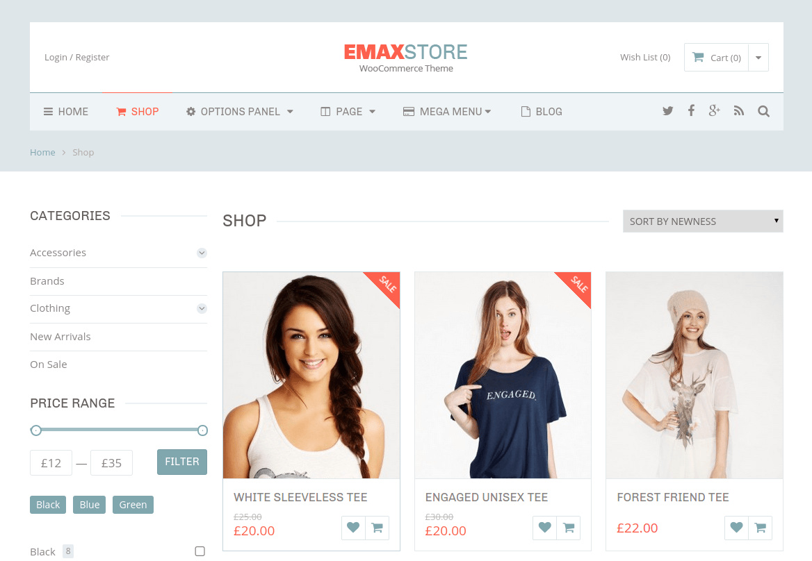 EmaxStore Shop Page