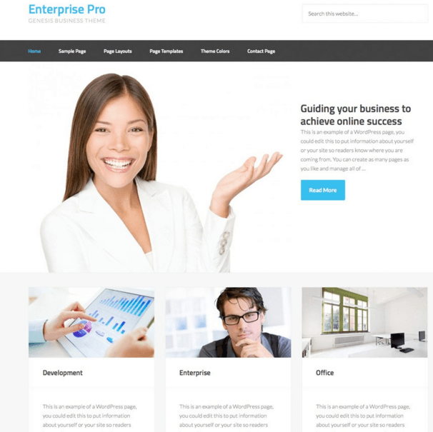 Enterprise Pro - Genesis Business theme