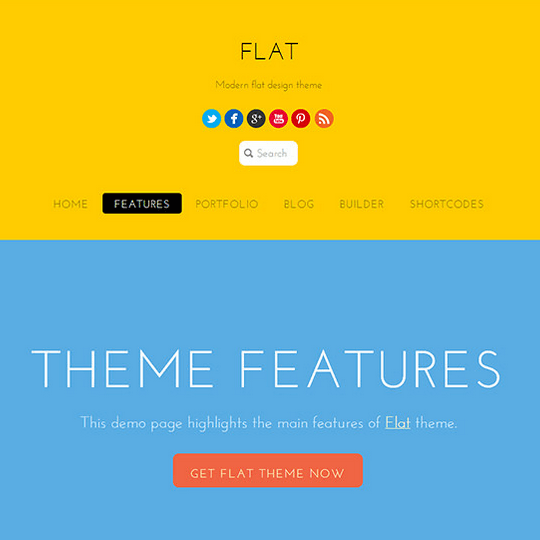 Flat - Beautiful, modern, bold and colorful theme
