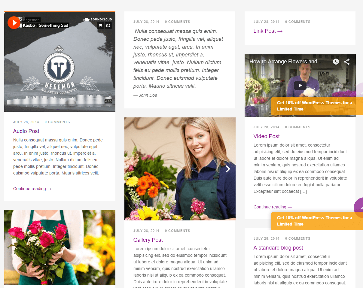 Florists Pro- blog page template