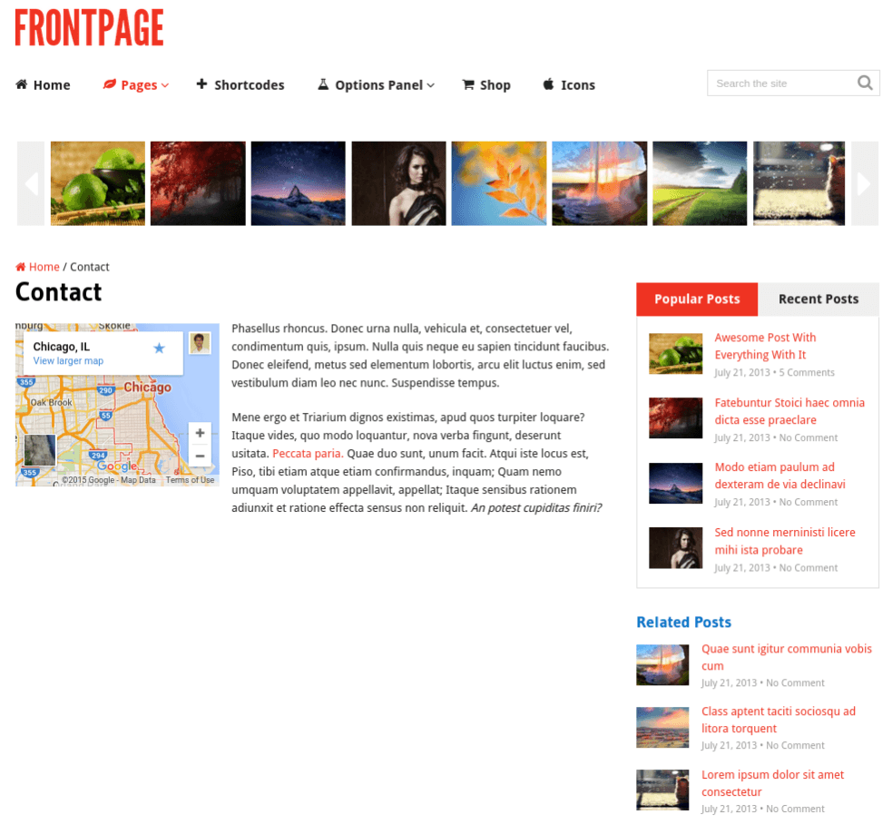Front-page-Wordpress-Responsive-Theme
