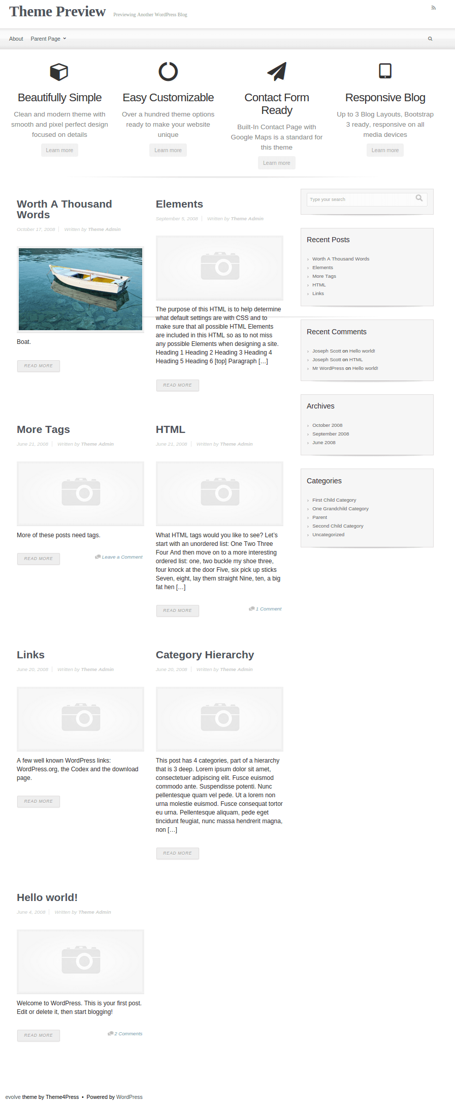 Full-Page-Width-Evolve-WP-Theme