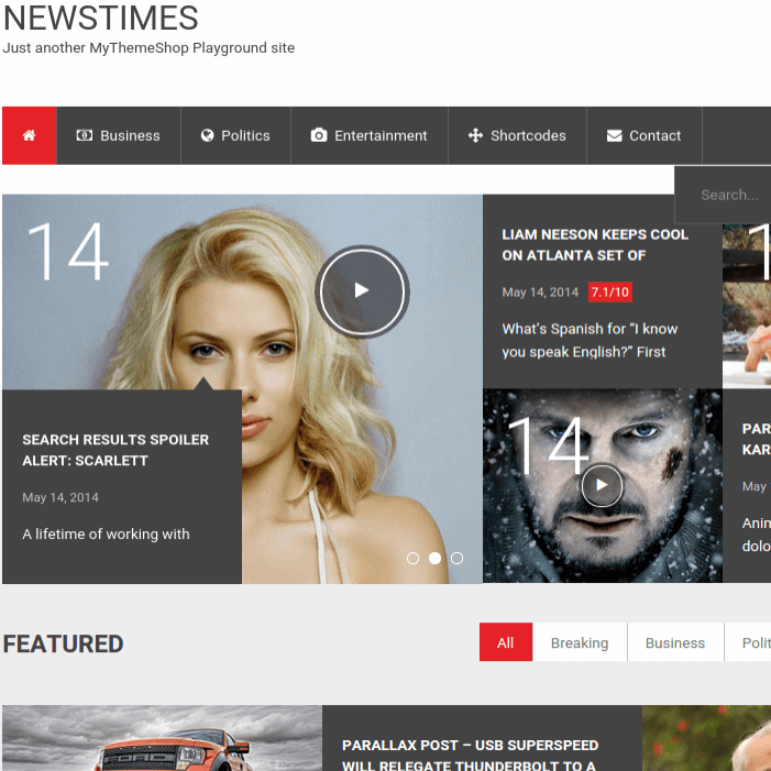 Full-page-NewsTime-Wordpress-theme