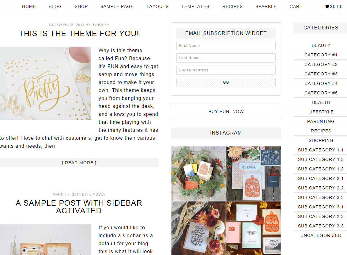 Fun- Page layout with content-sidebar-sidebar pattern