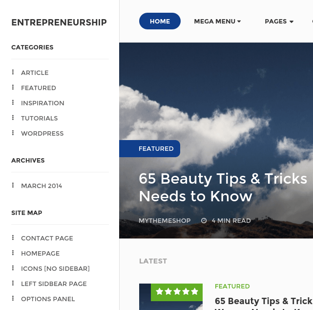 Homepage of Entrepreneurship