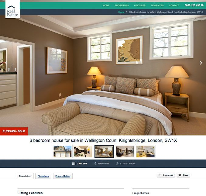 Homepage of Real estate pro