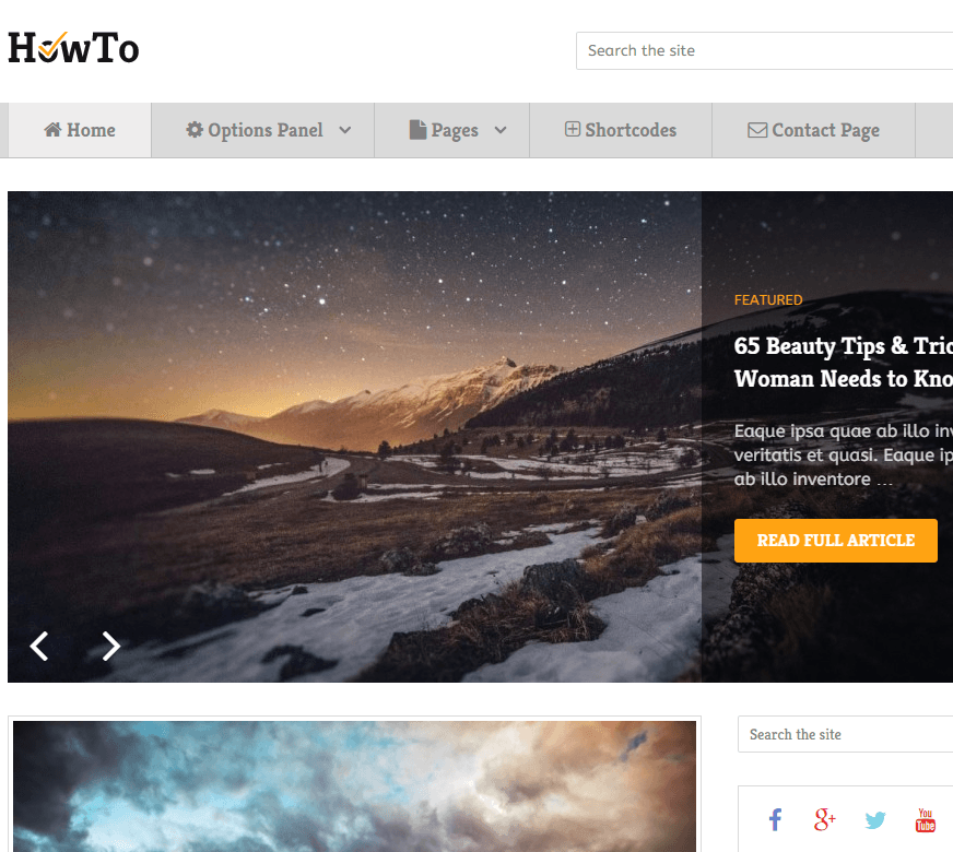 HowTo- A stylish blogging WordPress theme
