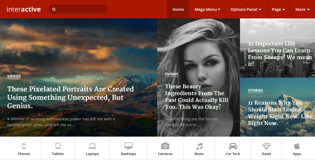 Interactive Home Page