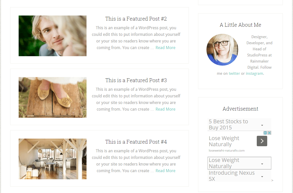 Lifestyle Pro- List view of blog posts