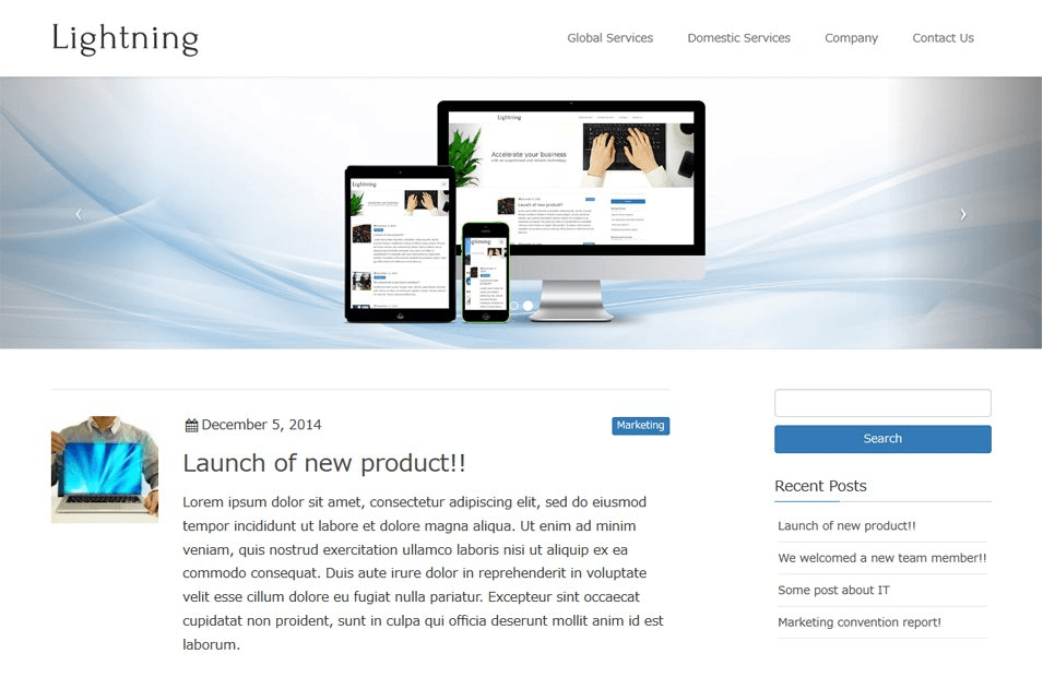 Lightning Home Page