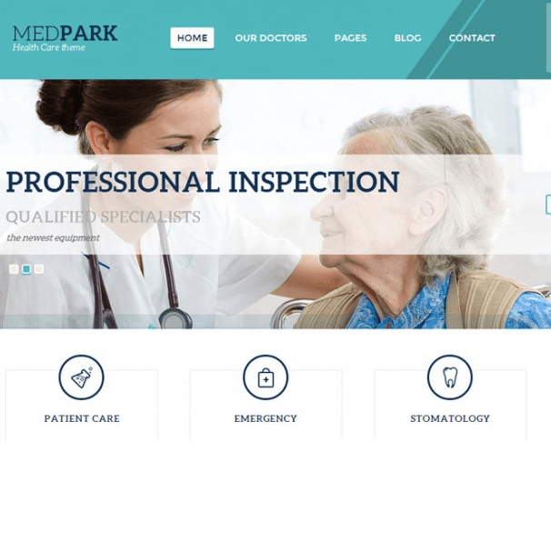 MedPark is a Premium WordPress Theme created for medical or education related websites