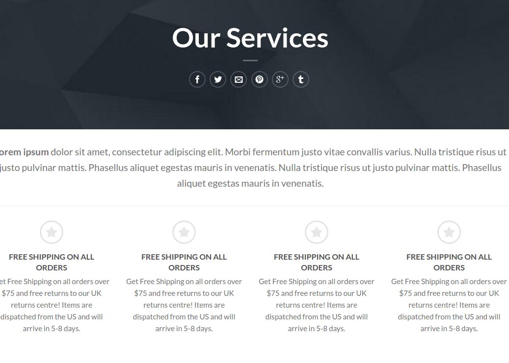 Our Services page on Flatsome