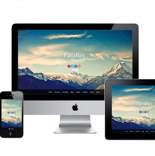 Parallax - One Page theme.