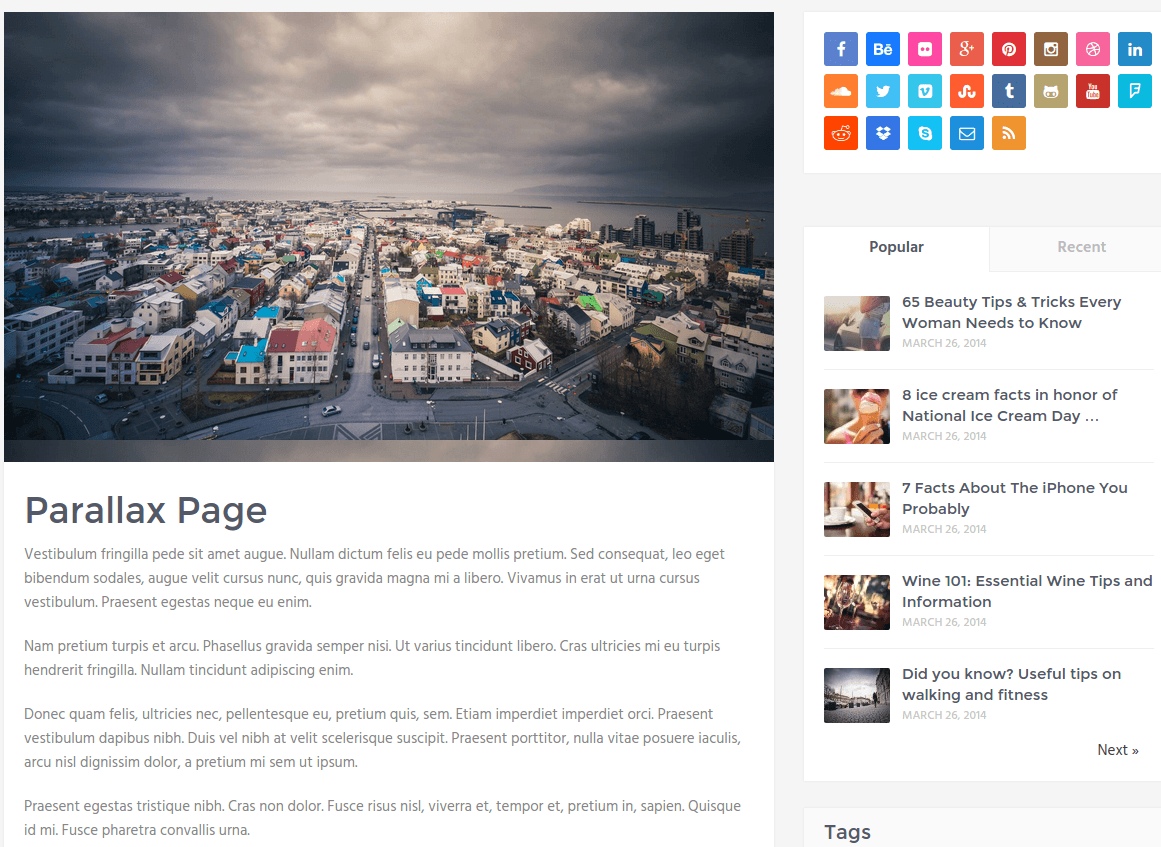 Parallax-Page