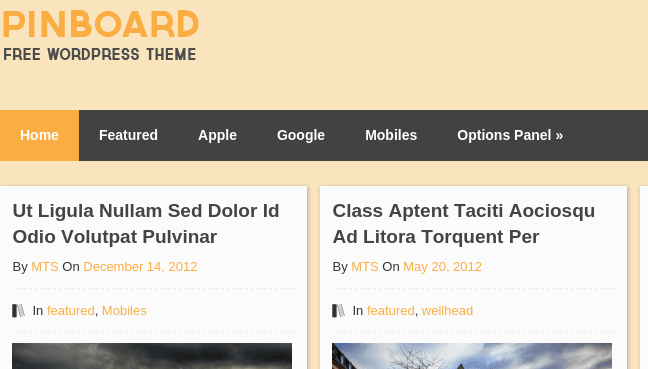 Pinboard Home Page