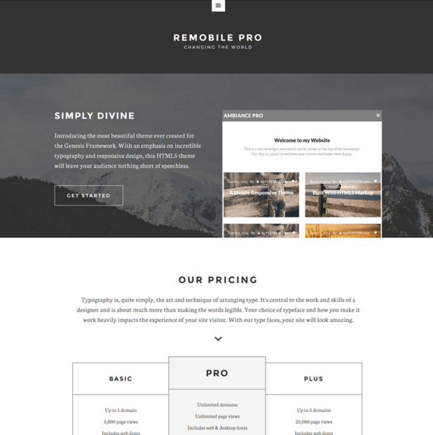 Remobile Pro - A clean theme for clear message