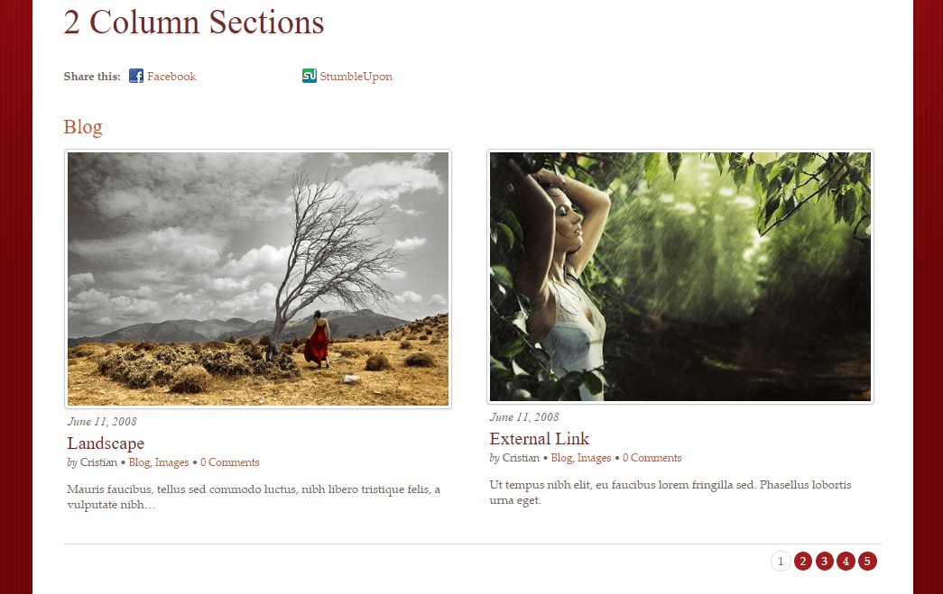Rezo- Blog layout with 2 column section and no sidebar