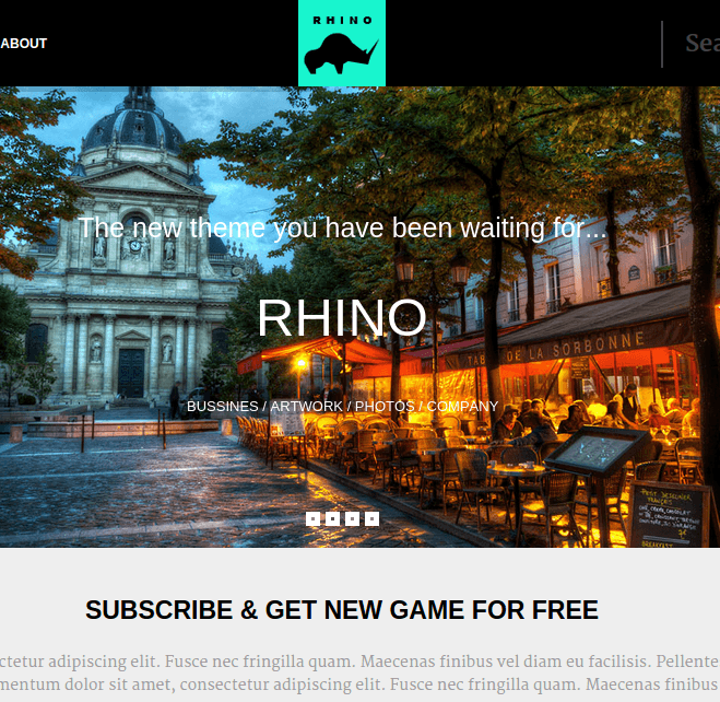 Rhino - The Gaming WordPress Theme